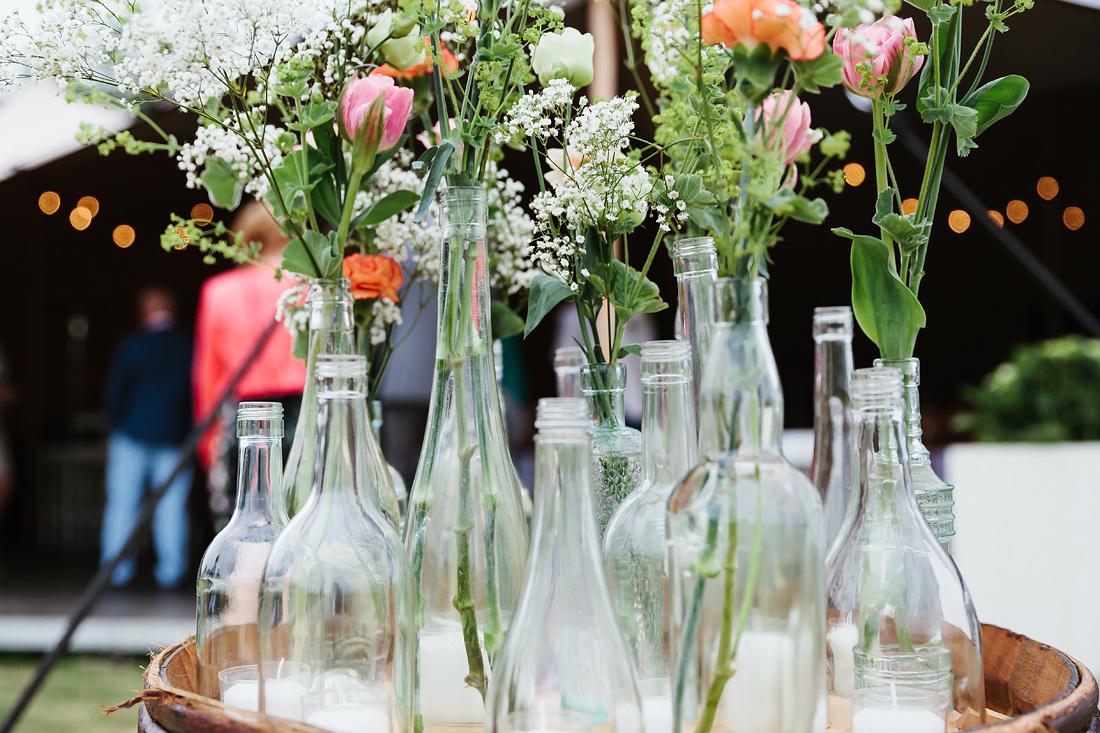 Bloemen vaasjes Bruiloft