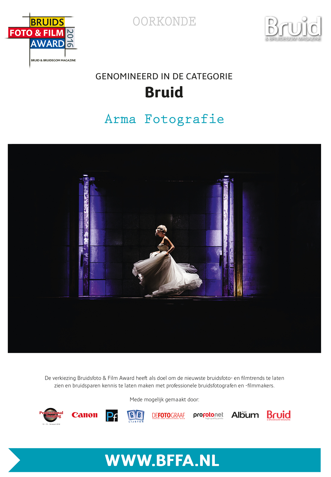 Bruidsfoto award 2016