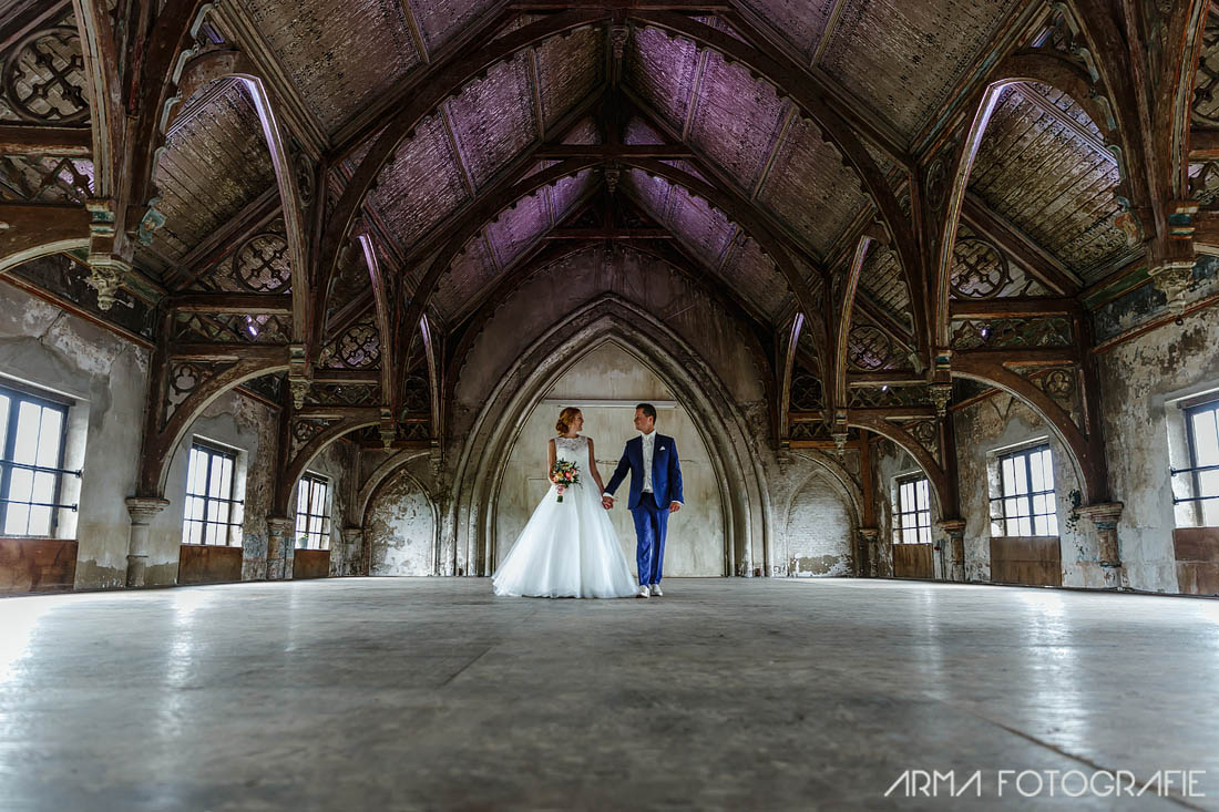 Metaal Kathedraal Bruiloft