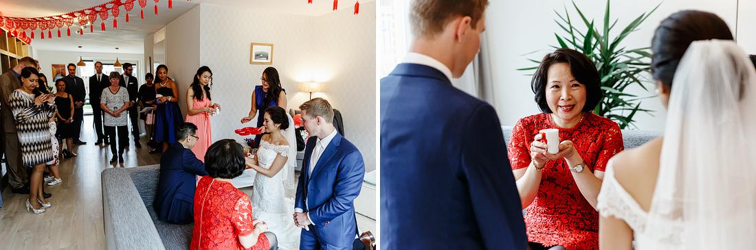Thee Ceremonie Bruiloft